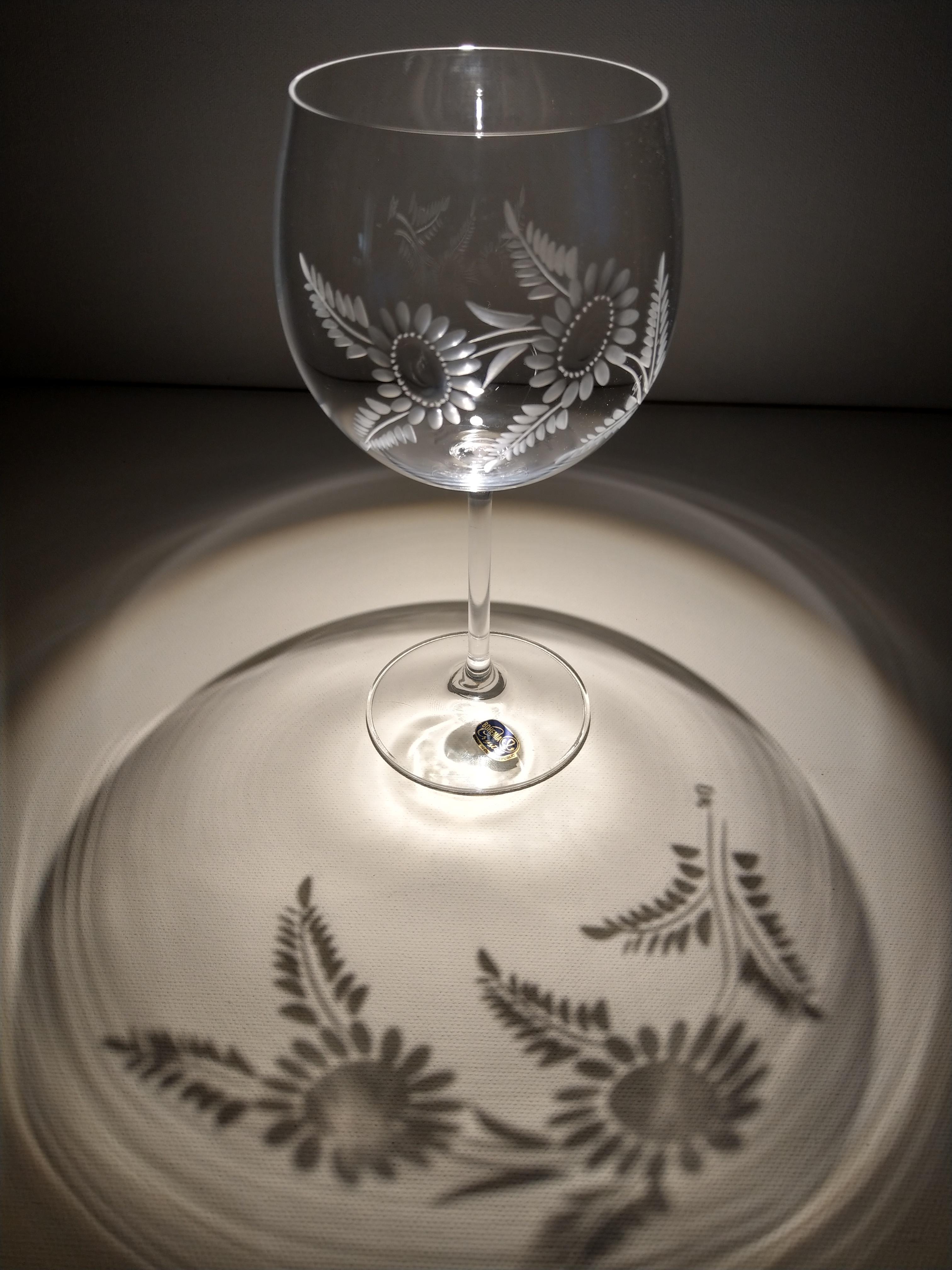 Gewaltig Glasgravur Ideen Von Rotweingläser Mit Motiv Blüten, 6er-set